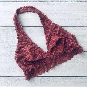 Victoria's Secret PINK mauve lace halter bralette